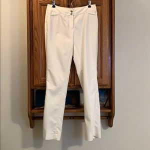 WHBM White Straight Leg Pants w/silver accents 2